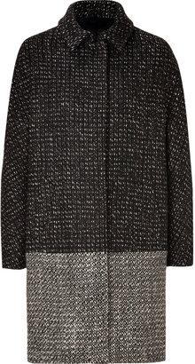 Piazza Sempione Black/Brown Wool-Blend Coat