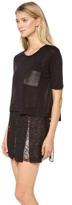 Jenni Kayne Leather Pocket Tissue Tee