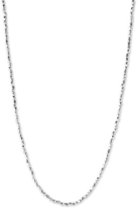 Nordstrom Extra Long Faceted Nugget Strand Necklace