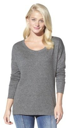 Mossimo Juniors Long Sleeve Double Knit Tee - Assorted Colors