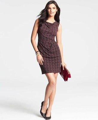 Ann Taylor Tweed Print Sheath Dress