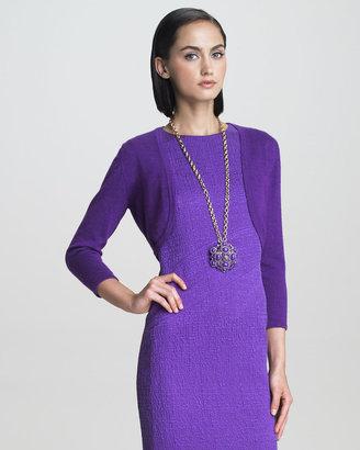 Oscar de la Renta Fine Knit Bolero, Violet