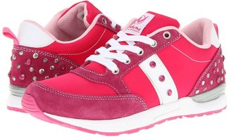 Naturino Sport 395 SP13 (Little Kid/Big Kid) (Fuchsia/White/Silver) - Footwear