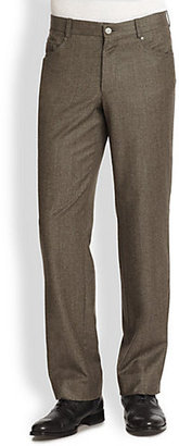 Saks Fifth Avenue Collection Five-Pocket Tweed Trousers