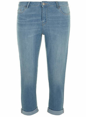 Dorothy Perkins Tall Light Wash Cropped Roll Up Jeans