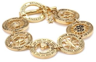 Swarovski LYRALOVESTAR by crystal streets Destiny 24k Gold Plated Crystal Coin Bracelet