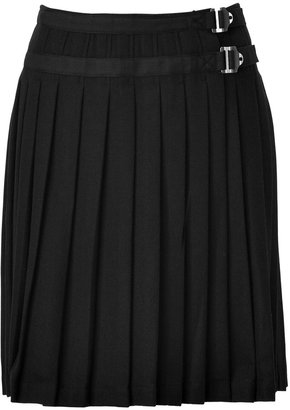 Burberry Black Wool Kilt