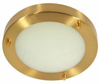 Rondo Bathroom Ceiling Fitting Satin Brass Finish G9 Bulb