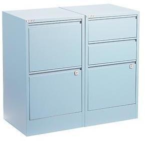 Bisley 3-Drawer File Cabinet Light Blue