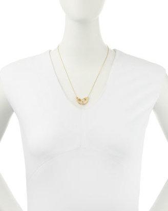 Jennifer Zeuner Jewelry 14k Gold Vermeil Large-Double-Clasp Necklace