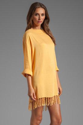 Indah Bridgette Long Sleeve Shift Mini Dress