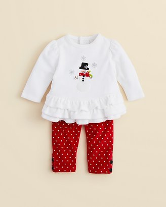 Hartstrings Infant Girl's Snowman Tunic & Polka Dot Leggings - Sizes 0-12 Months