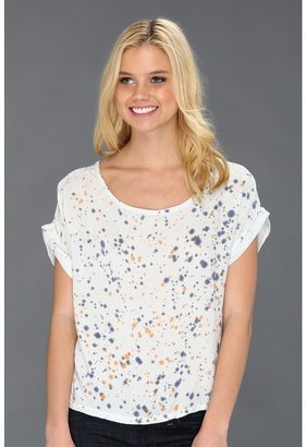 Alternative Apparel Printed Nikko Top (Boardwalk Blue Dot Wash) - Apparel