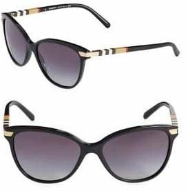 Burberry 57MM Tortoise Cat-Eye Sunglasses