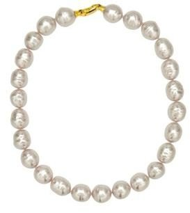 Majorica Manmade Organic White Baroque Pearl Necklace