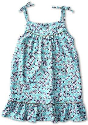 Little Marc Jacobs Jamie Denim Ruffle Hem Cover Up Dress (Toddler/Little Kids/Big Kids) (Powder Blue) - Apparel