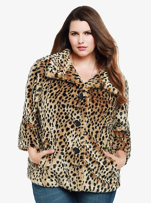 Torrid Leopard Faux Fur Coat