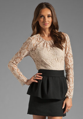 Milly Floral Scallop Lace Ivy Blouse