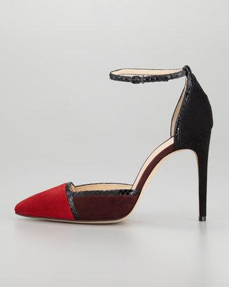 Alexandre Birman Colorblock Ankle-Wrap d'Orsay Pump