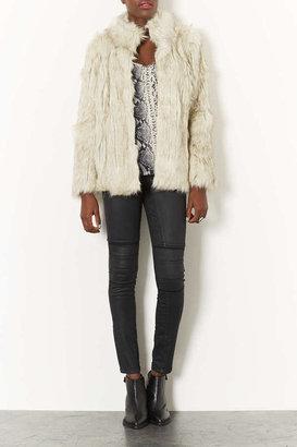 Topshop Faux Tipped Fur Jacket