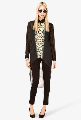 Forever 21 High-Low Cheetah Shirt