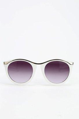UO Curly Q Round Sunglasses