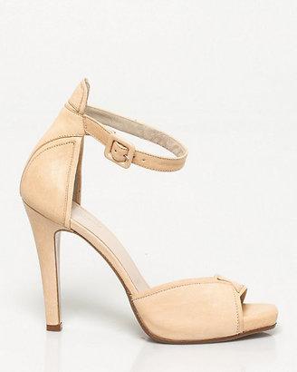 Le Château Italian-Made Leather Ankle Strap Heel