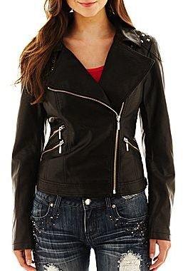 JCPenney Sugarfly Studded Moto Jacket