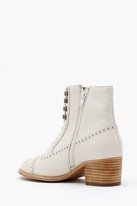 Nasty Gal Mattie Ankle Boot - Ivory