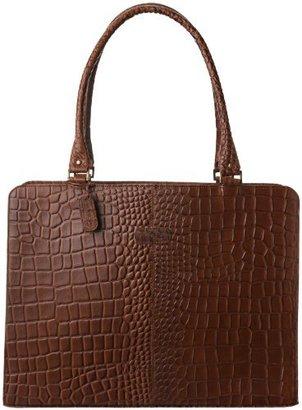 Leatherbay Croc Laptop Bag