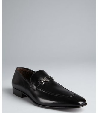 Mezlan black leather 'Marian' penny loafers