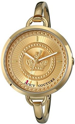 Juicy Couture Women's 1901173 Lolita Analog Display Quartz Gold Watch $200.11 thestylecure.com