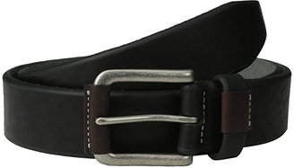 Johnston & Murphy Wrapped Buckle (Black) Men's Belts