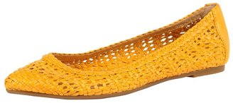 Frye Regina Woven in Yellow