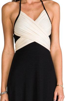 Rachel Pally Two Tone Halter Dress