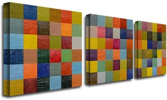 STUDY 3-pc. ''Collage Color II'' Canvas Wall Art Set by Michelle Calkins