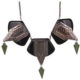 Tarina Tarantino Emerald Pretty Lucite Necklace (Black) - Jewelry