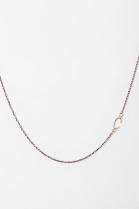 Urban Outfitters Sideswept Initial Necklace