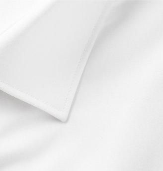 Lanvin White Glass-Button Cotton Tuxedo Shirt