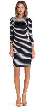 BCBGMAXAZRIA Long Sleeve Striped Dress