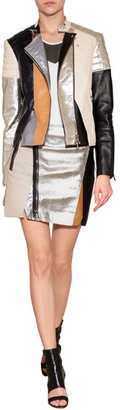 3.1 Phillip Lim Leather Patchwork Moto Skirt