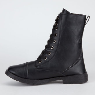 BLUE SUEDE SHOES Womens Military Boots