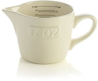 Crate & Barrel Homestead Ceramic Measuring Cup.
