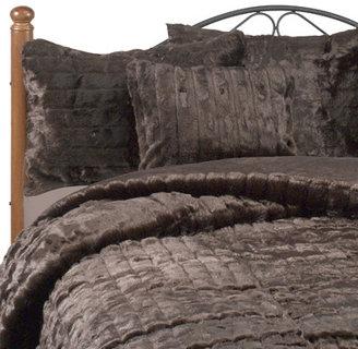 Bed Bath & Beyond Faux Fur Mink Duvet Cover Set - Chocolate