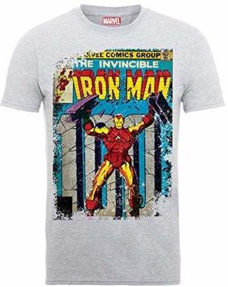 Marvel Men's Classics Iron Man Cover T-Shirt