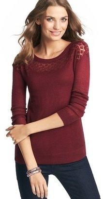 LOFT Pointelle Yoke Sweater
