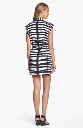 Collective Concepts Print Faux Wrap Dress