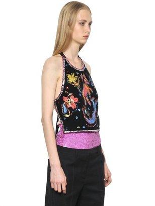 Maison Martin Margiela Sequin Embroidered Velvet Top