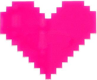 Topshop Pixel Heart Brooch