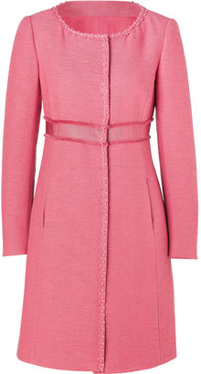 Philosophy di Alberta Ferretti Tea Rose Cotton-Linen Coat
